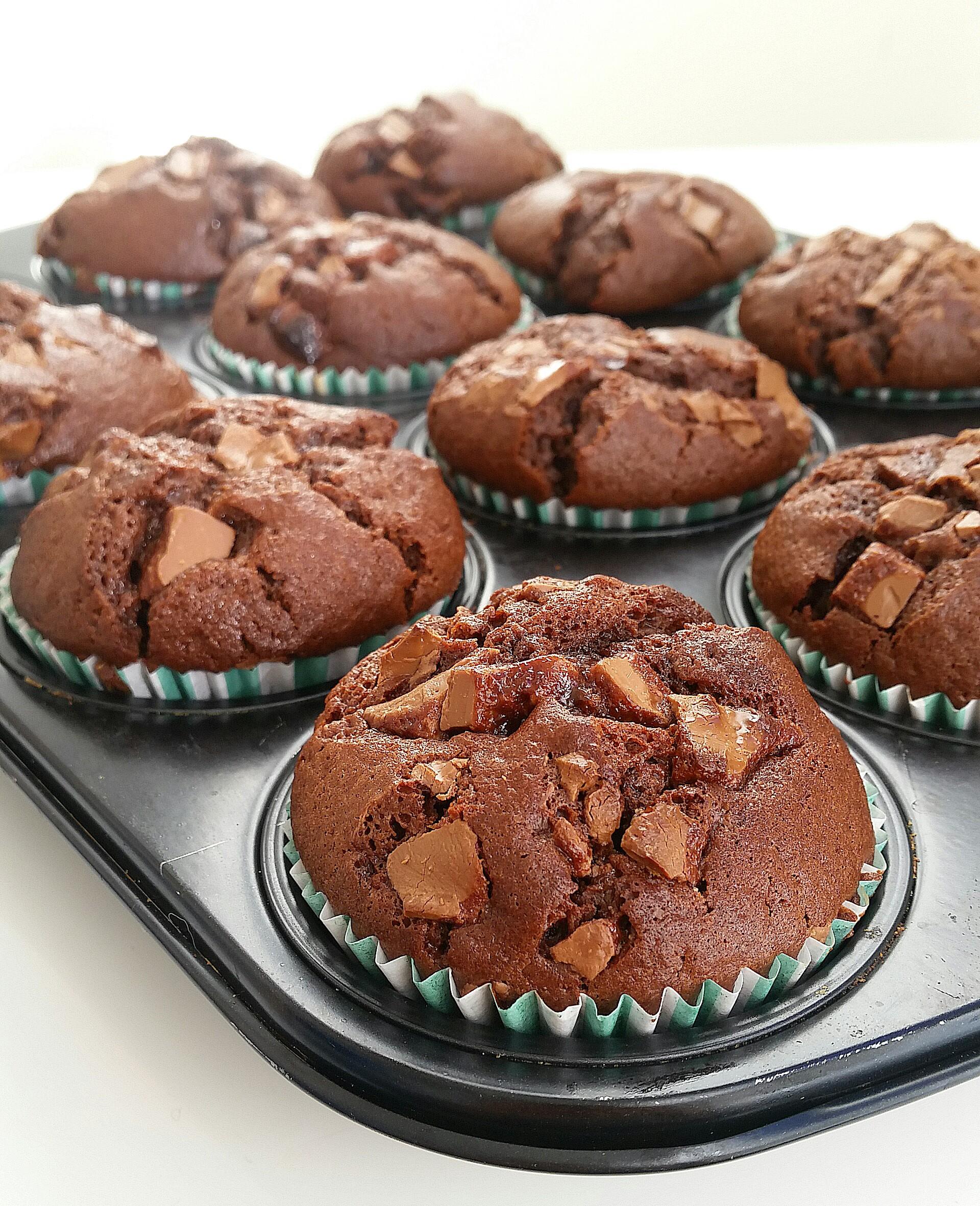 Muffins med chokladbitar