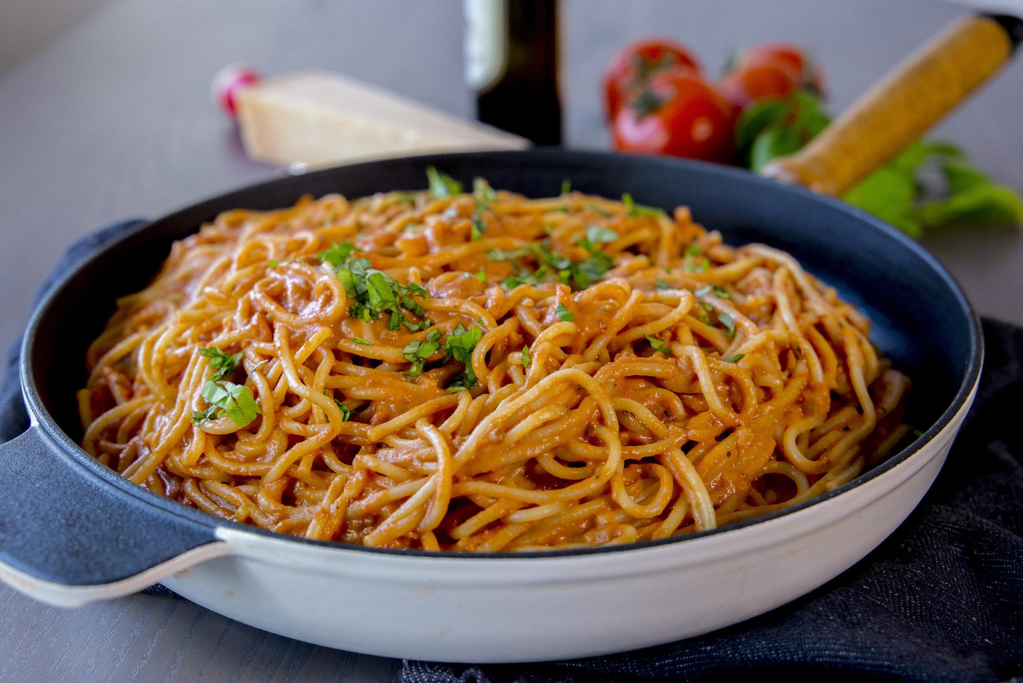 krämig vegetarisk pastasås