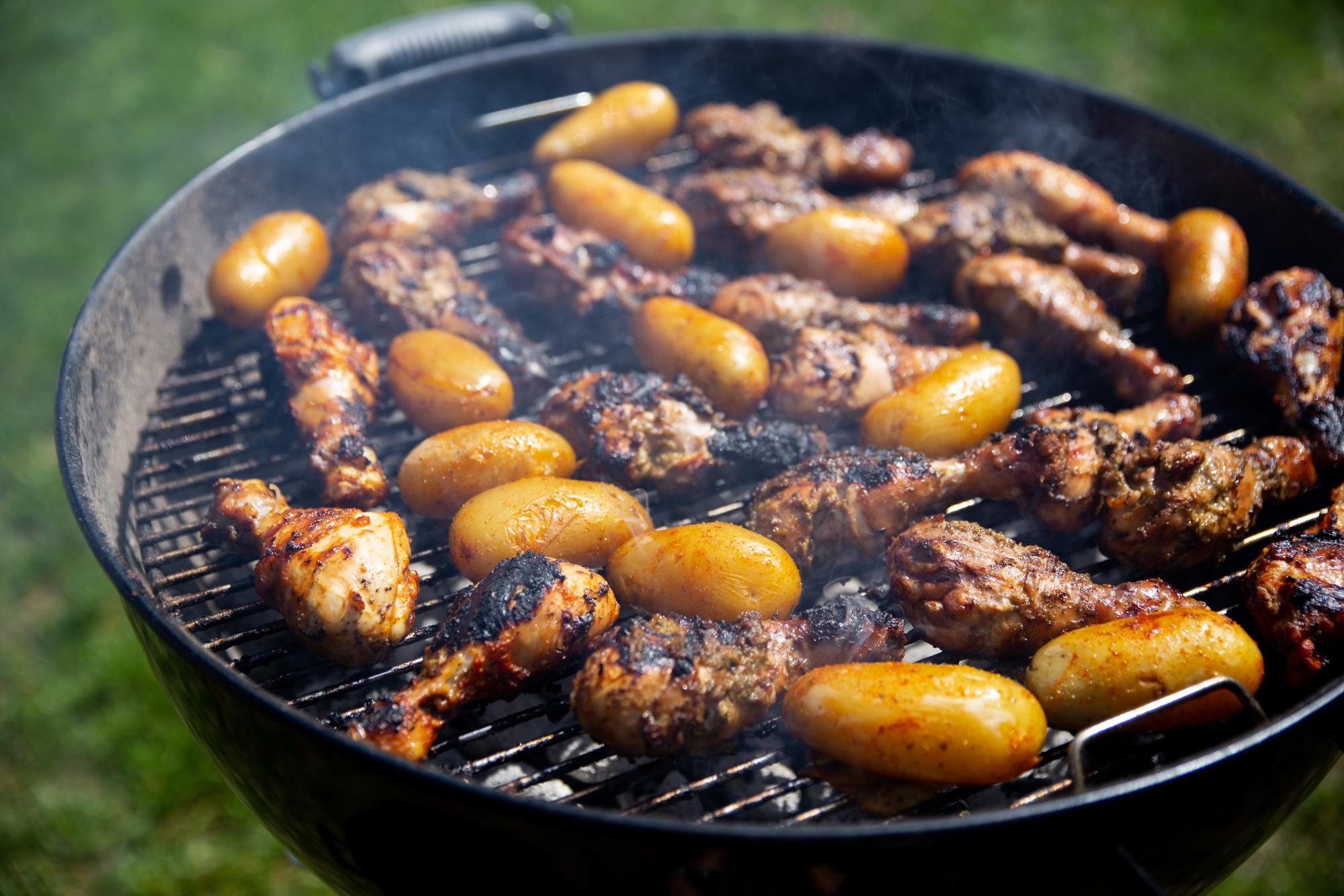 grillad potatis